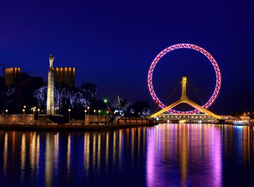 炫彩津门11Tianjin_Eye_and_Haihe_River
